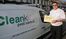 Paul Bates with Cleankill van